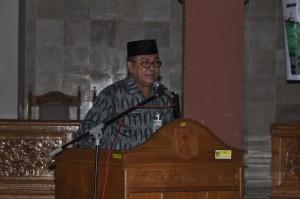 Sekda lobar, Drs. HM. Uzair membuka Mjusda ke 7 MUI Kabupaten Lobar di Gerung, Kamis kemarin