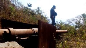 foto senjata meriam diduga peninggalan jepang kondisinya memperihatinkan karena tak diperhatikan pemerintah1