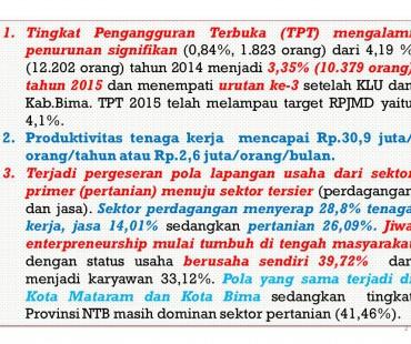 Deskripsi TPT Lombok Barat 2015