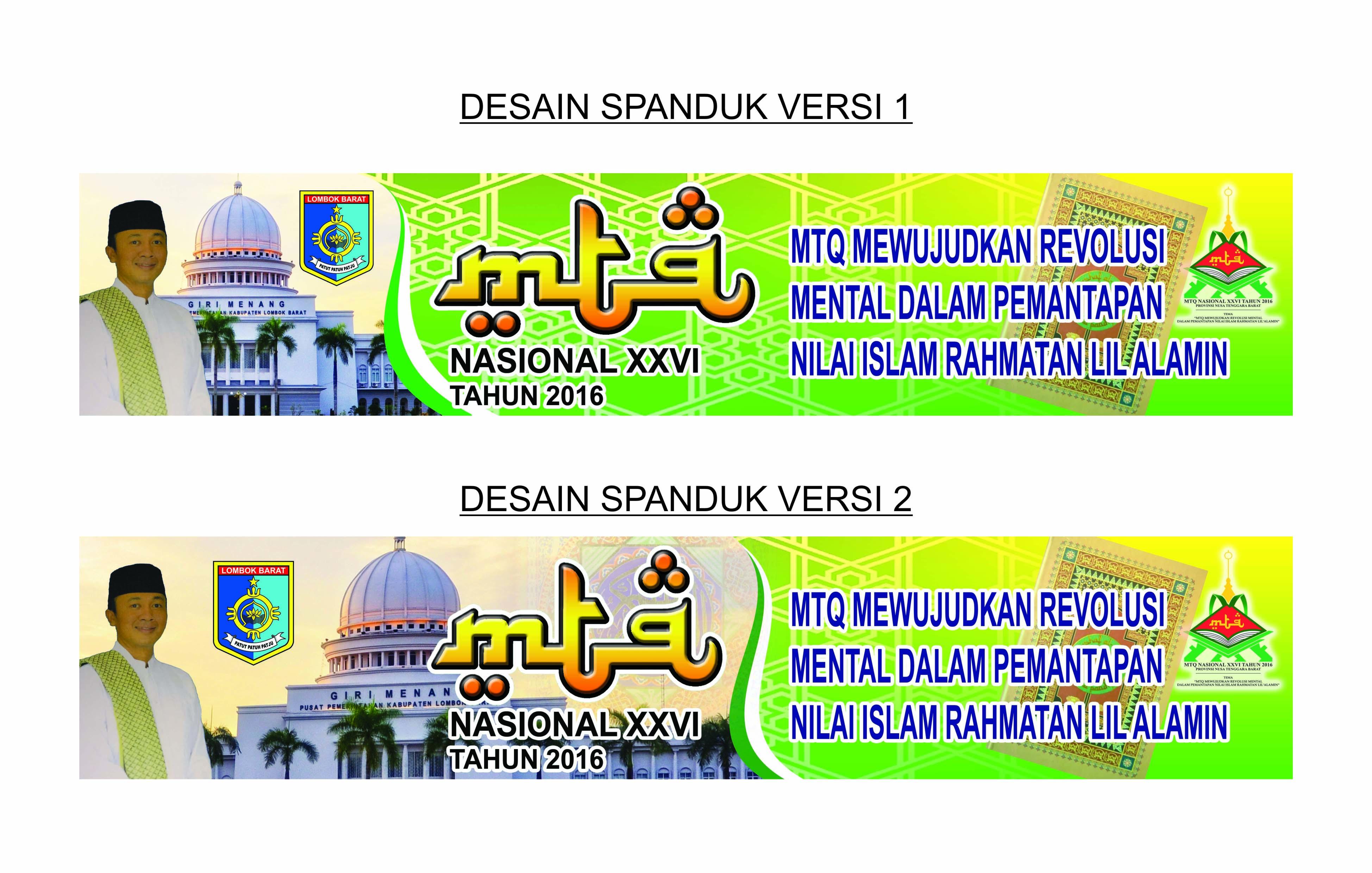 Desain Spanduk Dan Baliho MTQ Kabupaten Lombok Barat