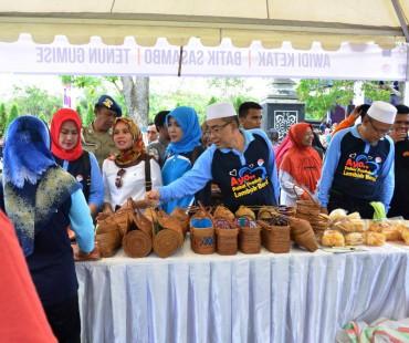 "Gelar Pasar Murah Dengan Tag Line ""Ayo Pakai Produk Lombok Barat"""