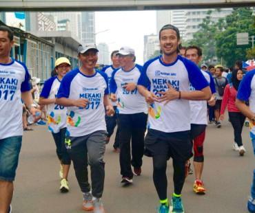 Bupati Lobar Promokan Wow Mekaki Marathon di Car Free Day Jakarta
