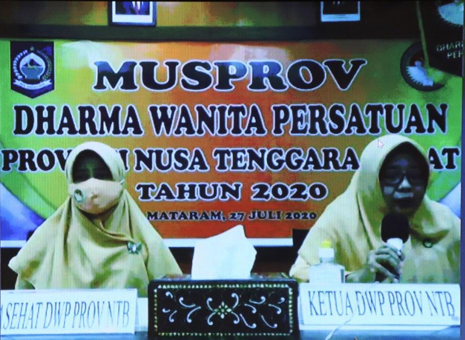 Musyawarah Provinsi Iv Dharma Wanita Persatuan Provinsi Ntb Tahun 2020 Kabupaten Lombok Barat